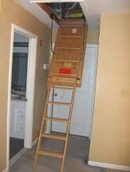 Open Attic Ladder